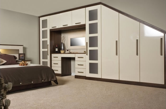 Fitted Loft Bedroom Wardrobes